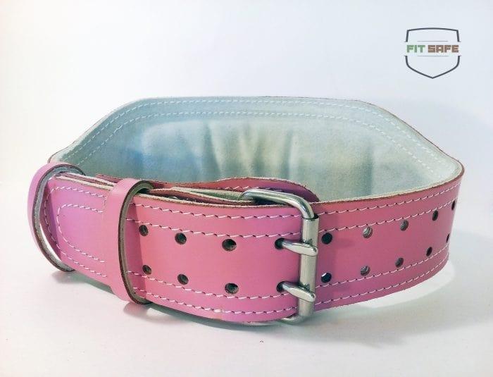 Пояс атлетический розовый 3