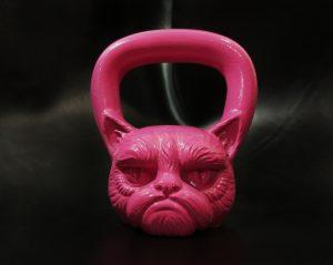 Гиря Кот розовая